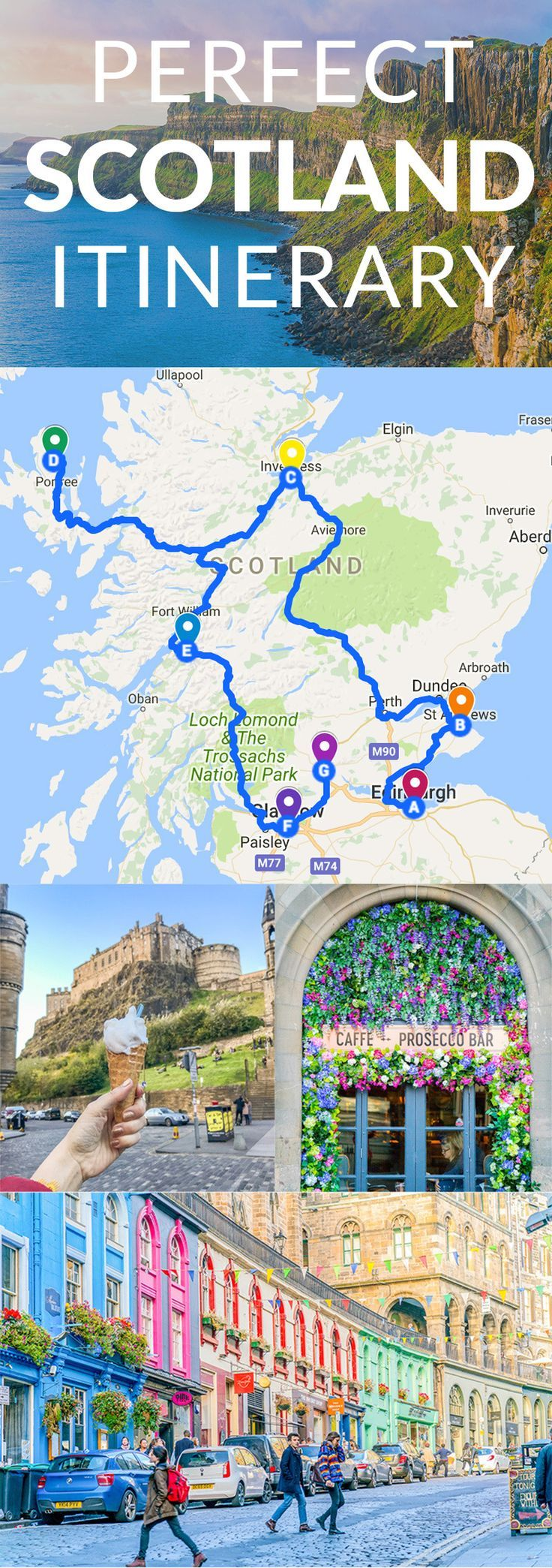 Perfect Scotland Itinerary | Scotland, Buckets and Vacation