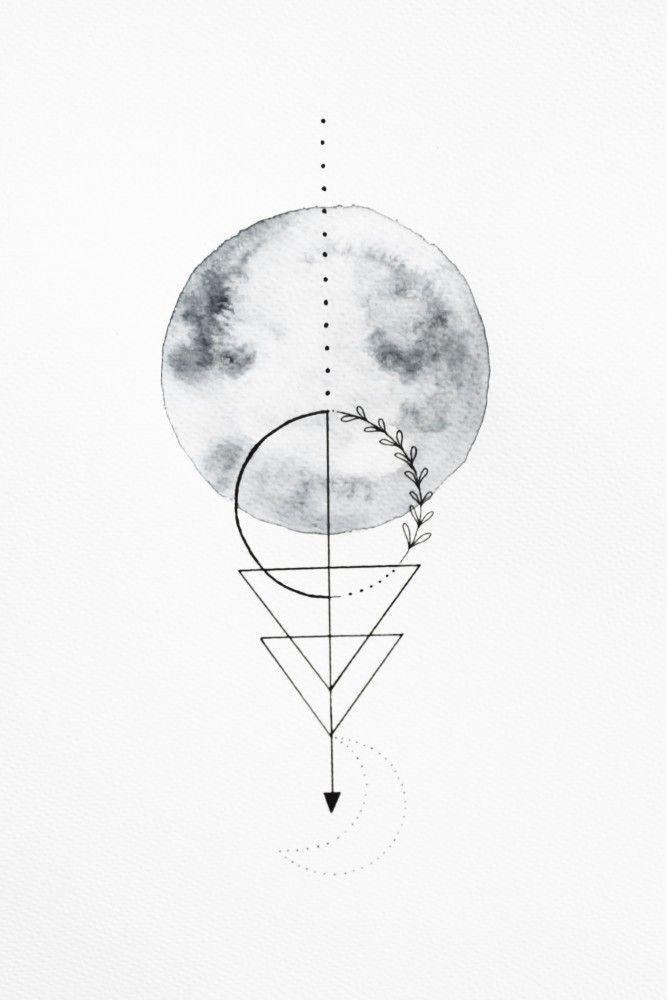 , Maan geometrische | poster | Geometrische artboxONE Moon | poster | artboxONE geometrische Moon |, My Tattoo Blog 2020, My Tattoo Blog 2020