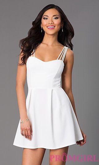 dd5df189d49 Short Sleeveless Casual Summer Dress at PromGirl.com
