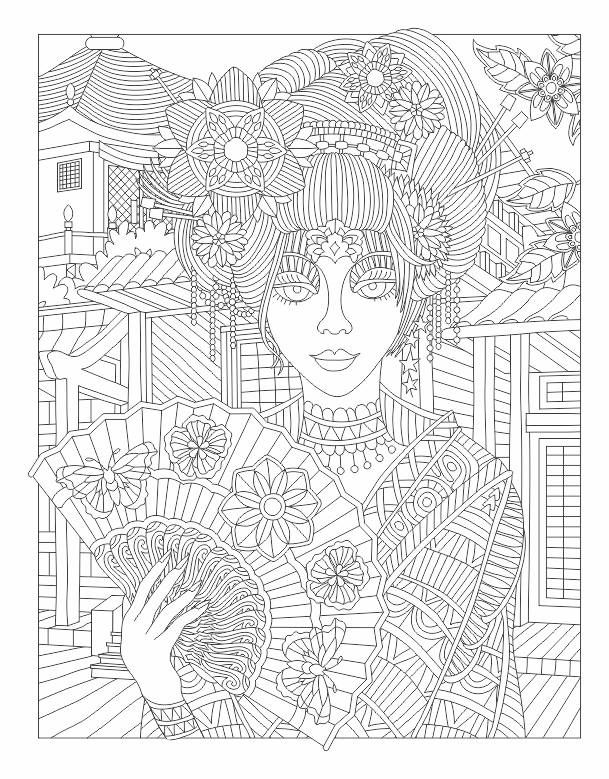 Beauty adult coloring page | color | Pinterest | Colores, Pintar y ...