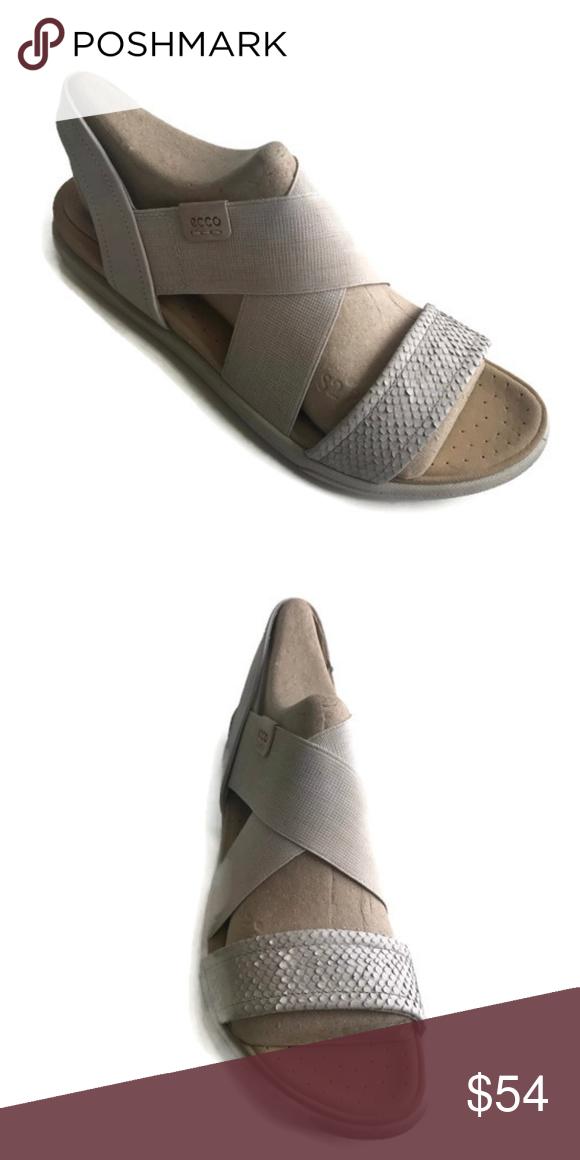d8f430487a7f ECCO Women s Damara Strap Flat Sandal Sz 10-10.5 Ecco Damara Sandal Brand   Ecco