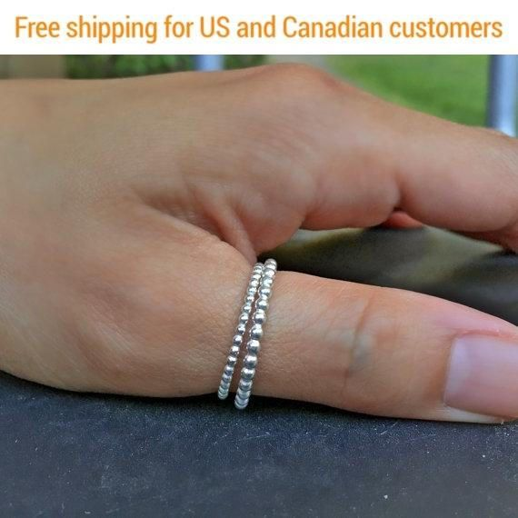 Gift for her, Dotted Silver Ring, Gift For Her, #jewelry #ring @EtsyMktgTool http://etsy.me/2a7H4MF