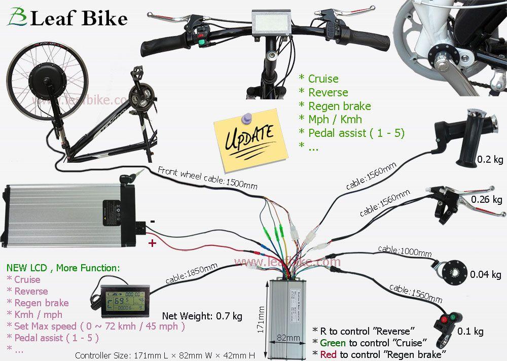 48V ebike Battery Electric Bike Conversion Kit  26 28 29 inch E-Bike Kit