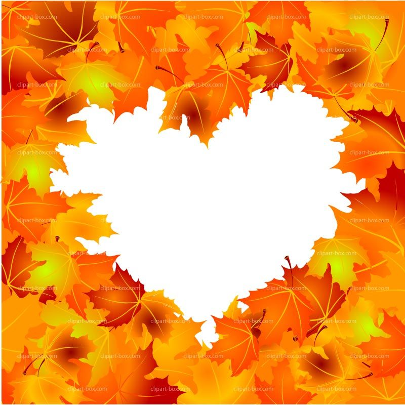 Clipart Autumn Heart Frame Royalty Free Vector Design Autumn Leaves Photography Leaf Photography Autumn Painting