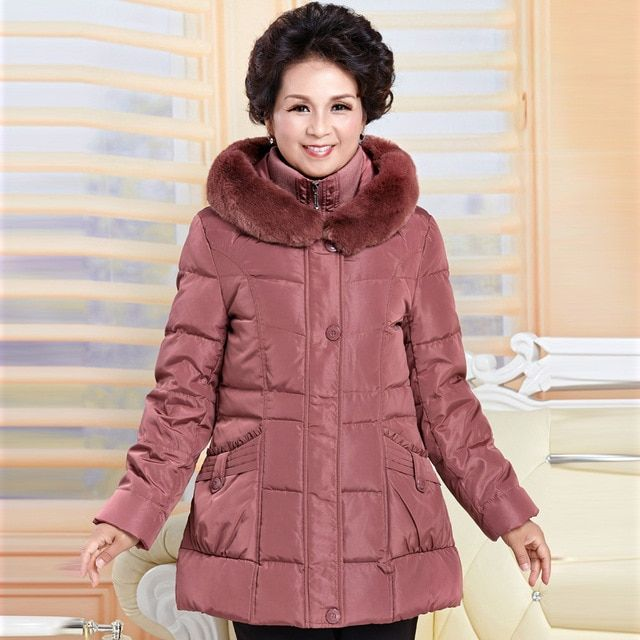 6bec5da3d2f1 free shipping 2014 new women Europe fashion slim hooded fur collar autumn  winter plus size thick down parkas jacket coat M0355