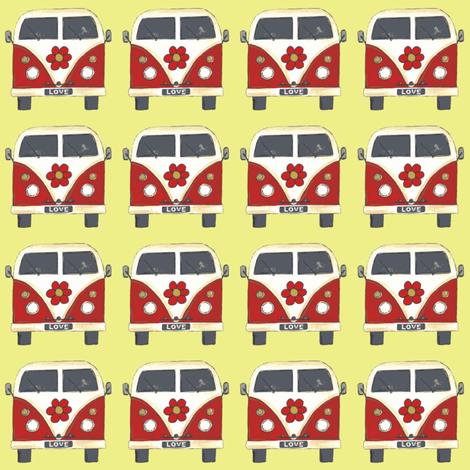 yellow flower camper fabric by scrummy on Spoonflower - custom fabric