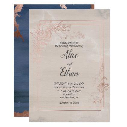 Fl Geometric Beige Bohemian Wedding Card Weddinginvitations Invitations