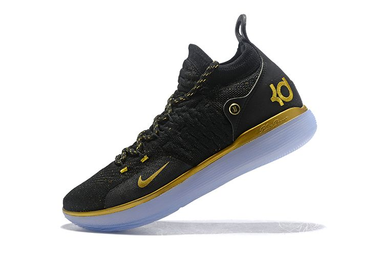 info for e4c0d 22967 Nike KD 11 Black Gold Kevin Durant Basketball Shoes