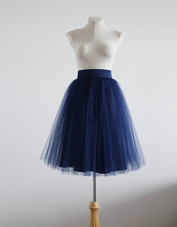 elegant in style buy real new selection Navy tulle skirt. Tulle skirt. Tulle skirt woman. Midi skirt ...