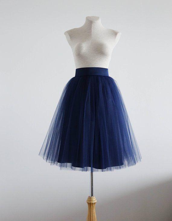 295945f9ec Navy tulle skirt. Tulle skirt. Tulle skirt woman. Midi skirt. Woman tutu