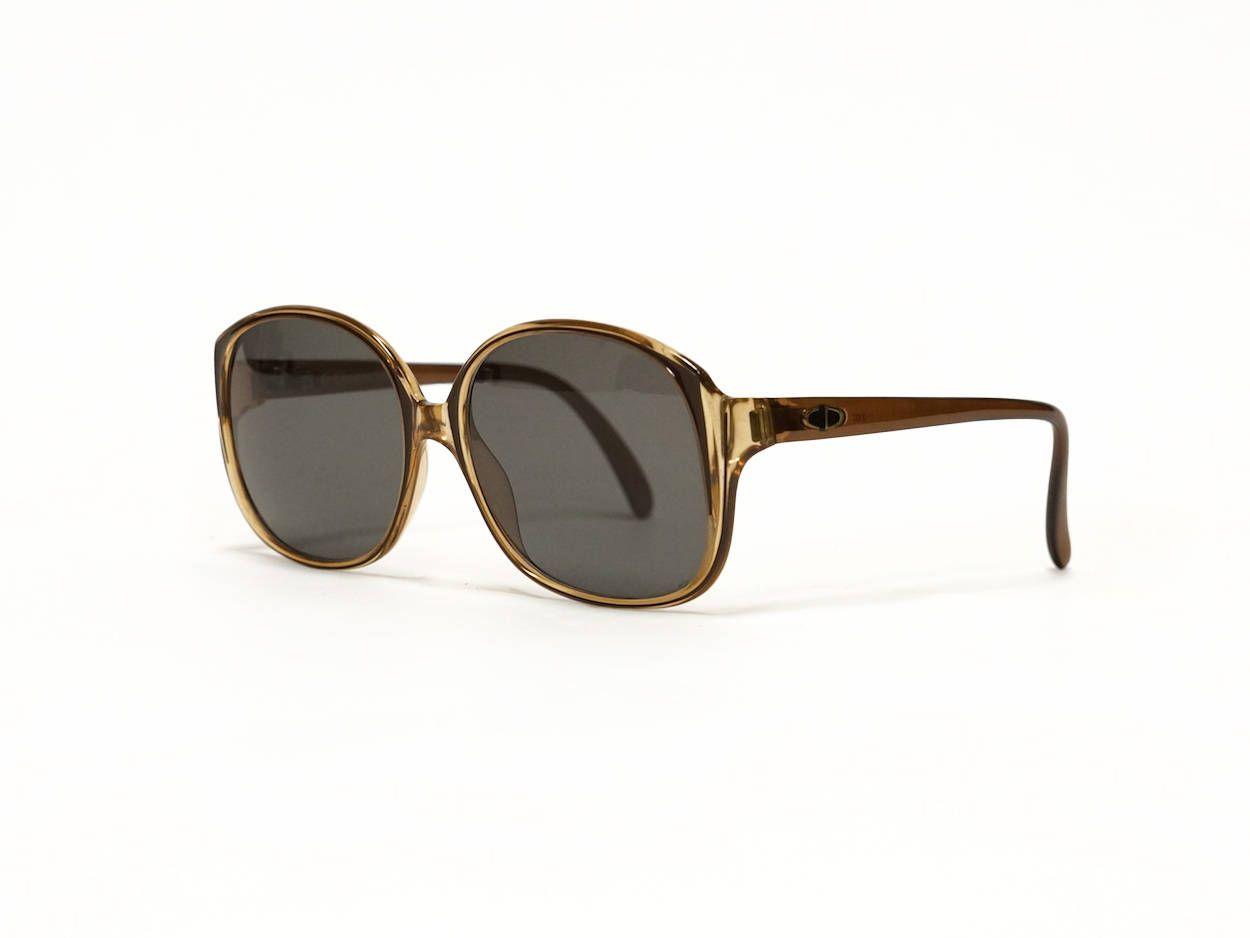 9cb0321294 CHRISTIAN DIOR brown vintage sunglasses