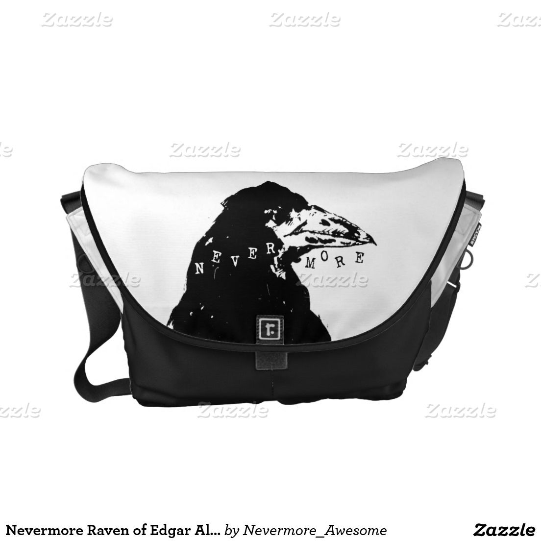 Nevermore Raven of Edgar Allan Poe Messenger Bag