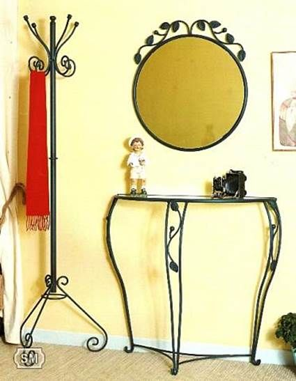 Muebles de forja para el recibidor hierro forjado for Modelos de percheros