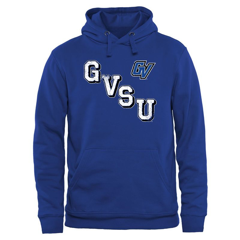 Grand Valley State Lakers Acronym Pullover Hoodie - Royal Blue