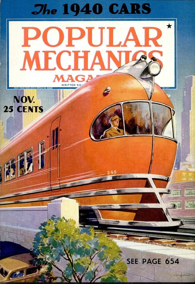 Popular Mechanics Nov 1939 Popular Mechanics Train