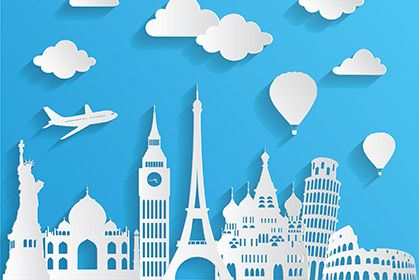 Global Blue Wallpaper Wall Decor Travel Wall Art Travel And Tourism Tourism