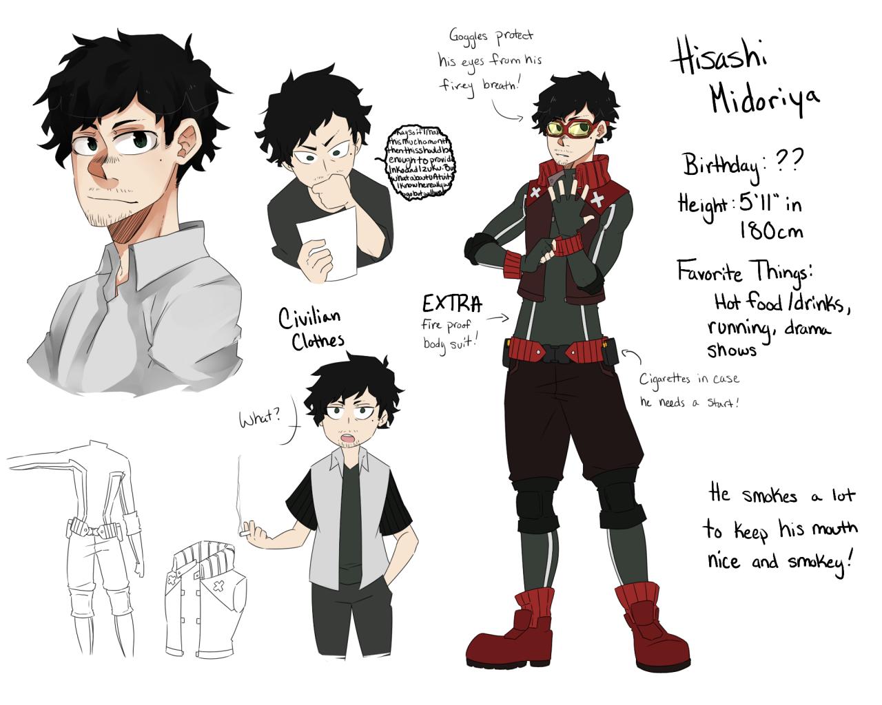 Hisashi Midoriya My Hero Hero Hero Academia Characters