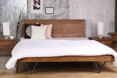 Metric King Bed Rosewood By Casa Suarez Modern bed