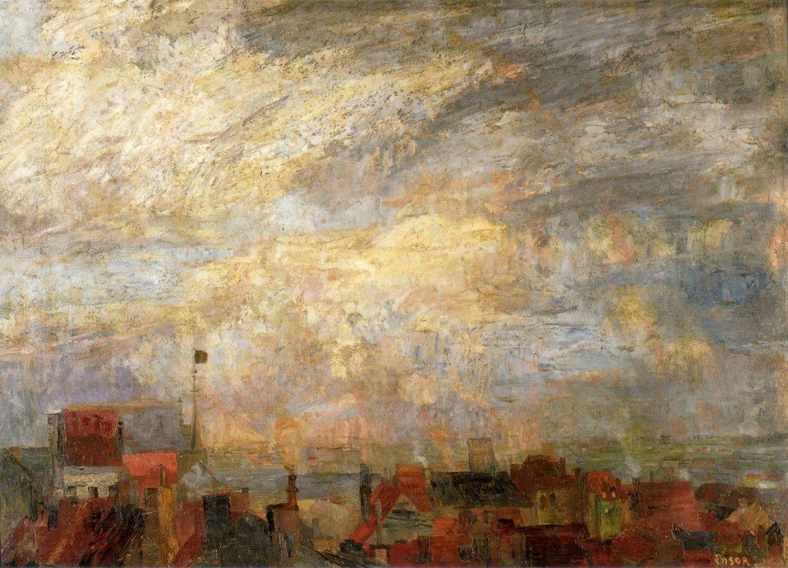 James Ensor - Ostend Roofs