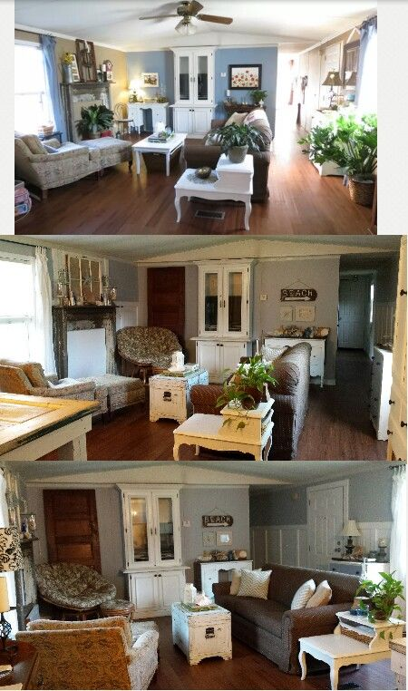Pin by ashley abusaft on mobile home living mobile home - How to decorate a mobile home living room ...
