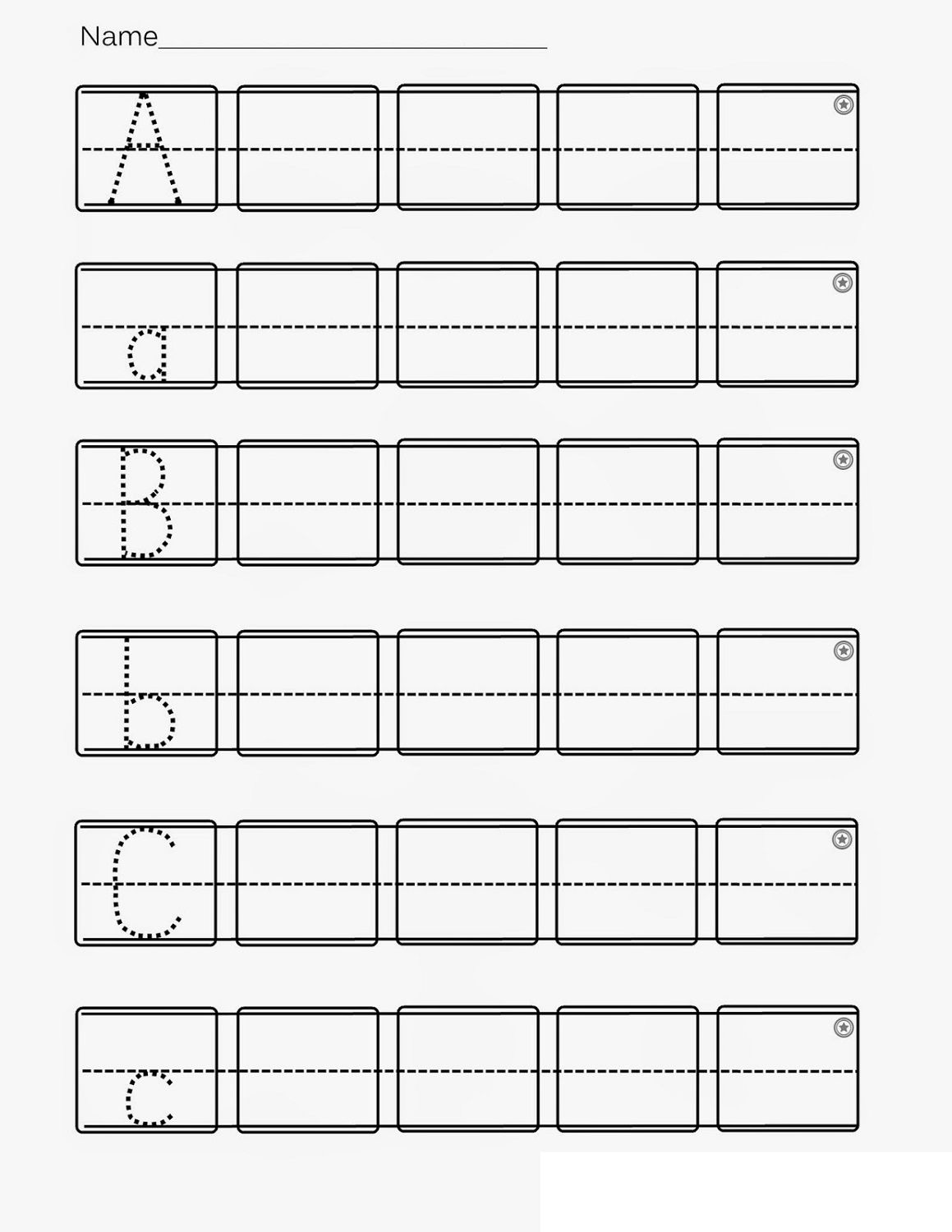 Alphabet Abc Worksheet Printables In With Images