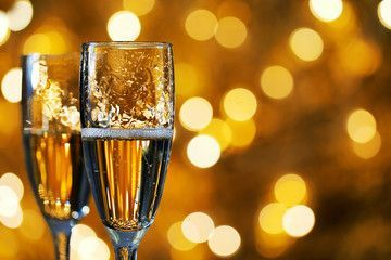Two glasses of champagne on a blurred background. Celebration concept. Selective focus. Background with copy space. , #spon, #background, #Celebration, #blurred, #glasses, #champagne #Ad #CelebrtyAesthetic  #CelebrtyFunny  #CelebrtyStyle