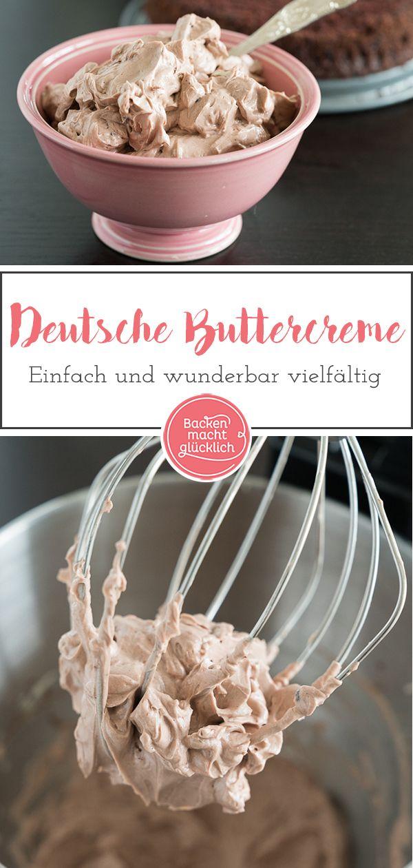 Einfache Buttercreme (Grundrezept) | Backen macht glücklich #fondant