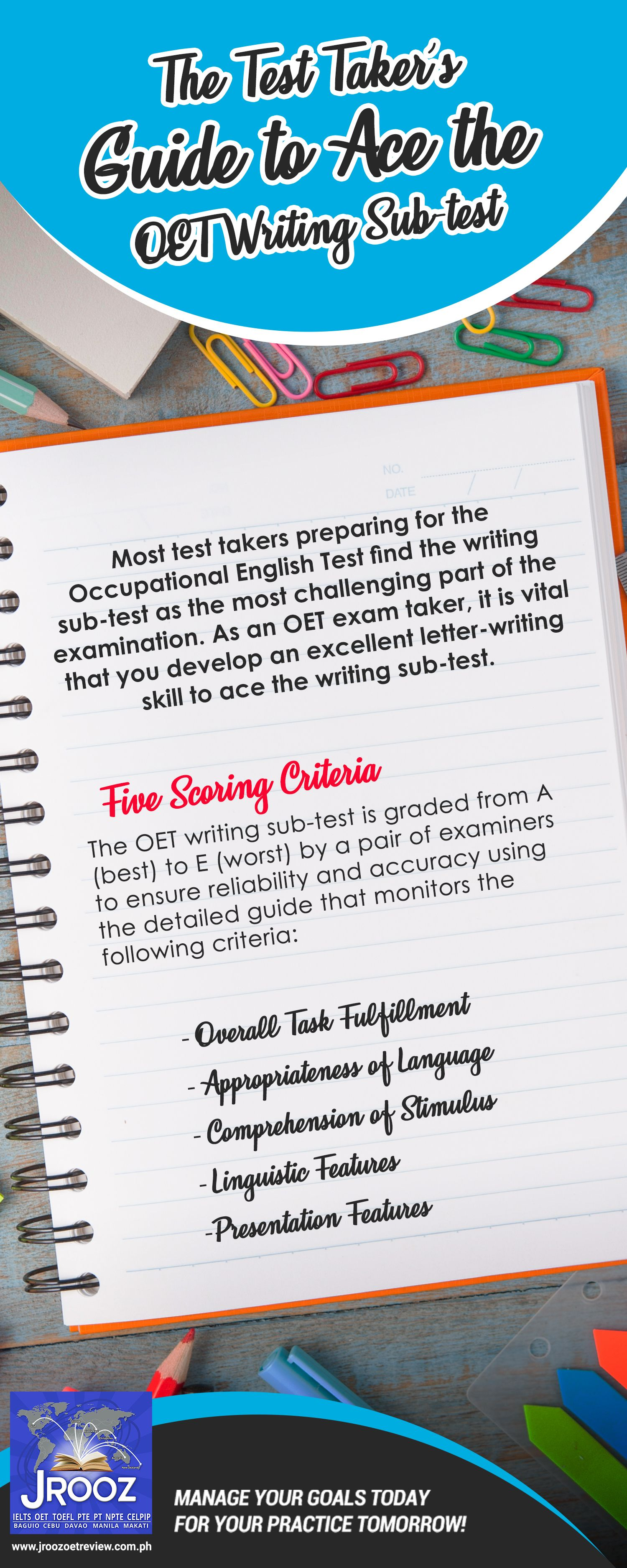 The Test Taker's Guide to Ace the OET Writing Sub-test