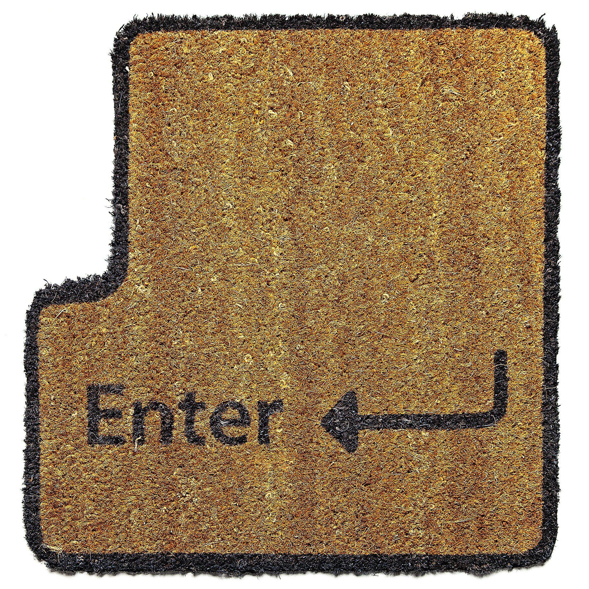 paillasson touche enter (entrée): amazon.fr: jardin | paillasson