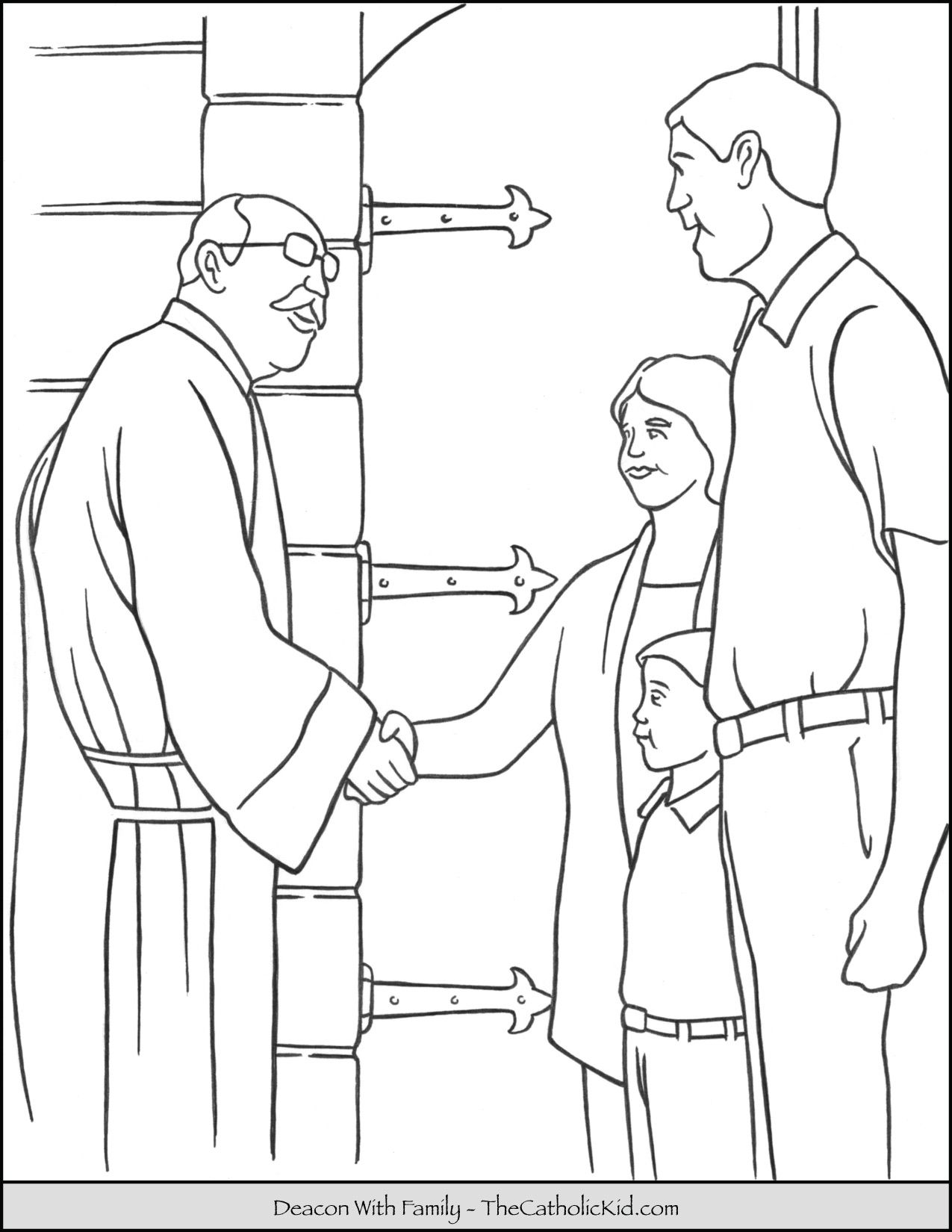 Deacon Coloring Page Thecatholickid Com Coloring Pages