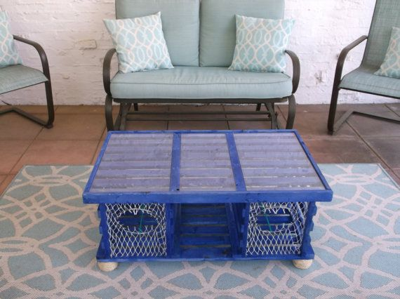 new the deep ocean lobster trap coffee tablemainelobstertrap