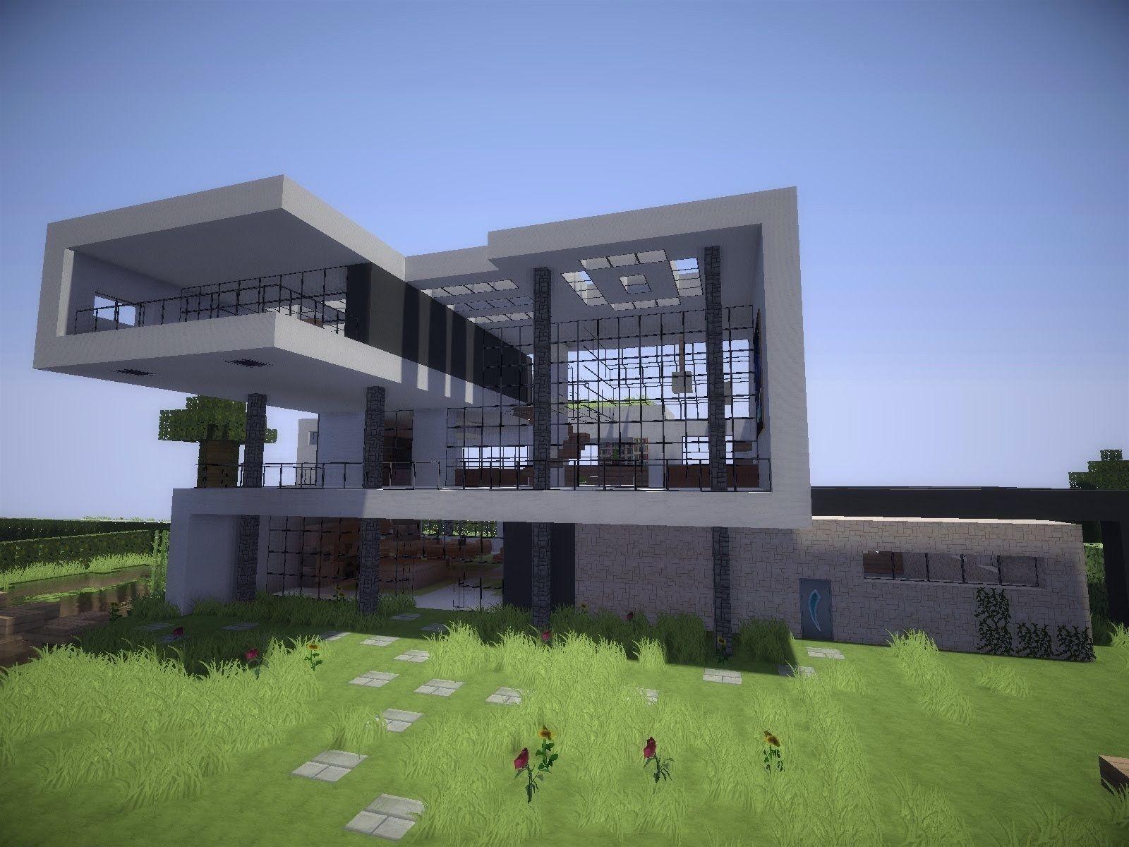 Perfekt Traumhaus Modern Erstaunlich Auf Dekoideen Fur Ihr Zuhause Auch Minecraft  Modern House 9 Modernes Haus HD 6