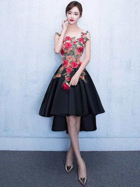 a line high low short dress