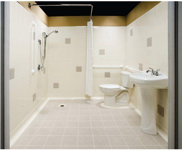 Seamless Bathrooms By One Bath Systemsuniversal Design Style Handicap Bathroom Design Small Bathroom Plans Bathroom Solutions