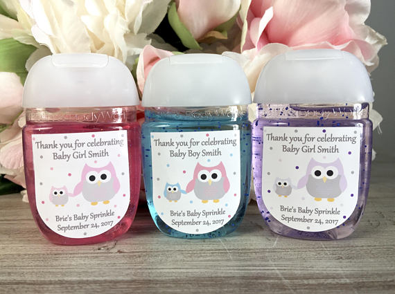 Owl Baby Shower Favor Labels Owl First Birthday Party Favor