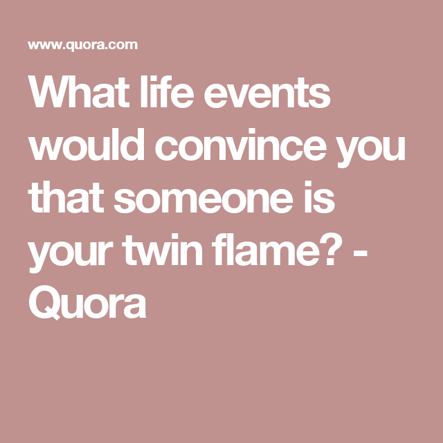 how to tell if someone is your twin flame