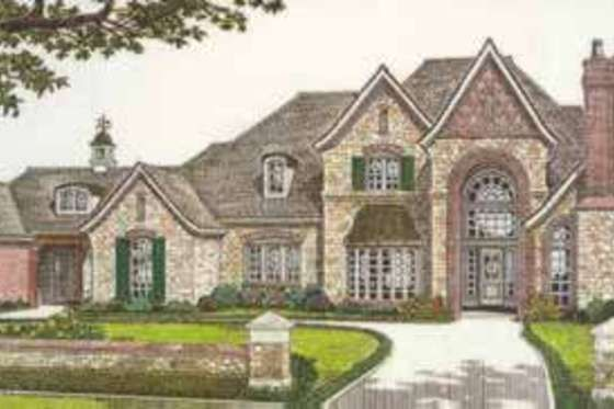 Dont like the front but like the floor plan.  House Plan 310-521
