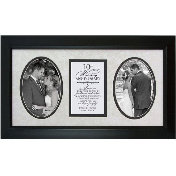 10th Anniversary Gift 10th Wedding By Dayspringmilestones On Etsy Wedding Gifts For Parents Wedding Anniversary Pictures Framed Wedding Photos