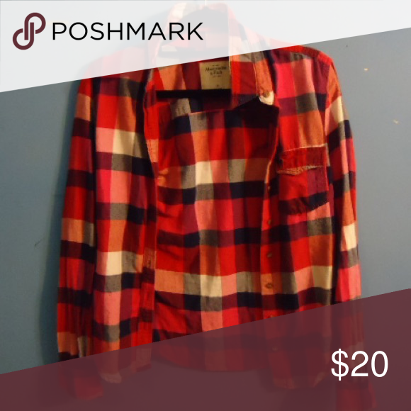 Flannel Red checkered flannel Abercrombie & Fitch Tops Button Down Shirts