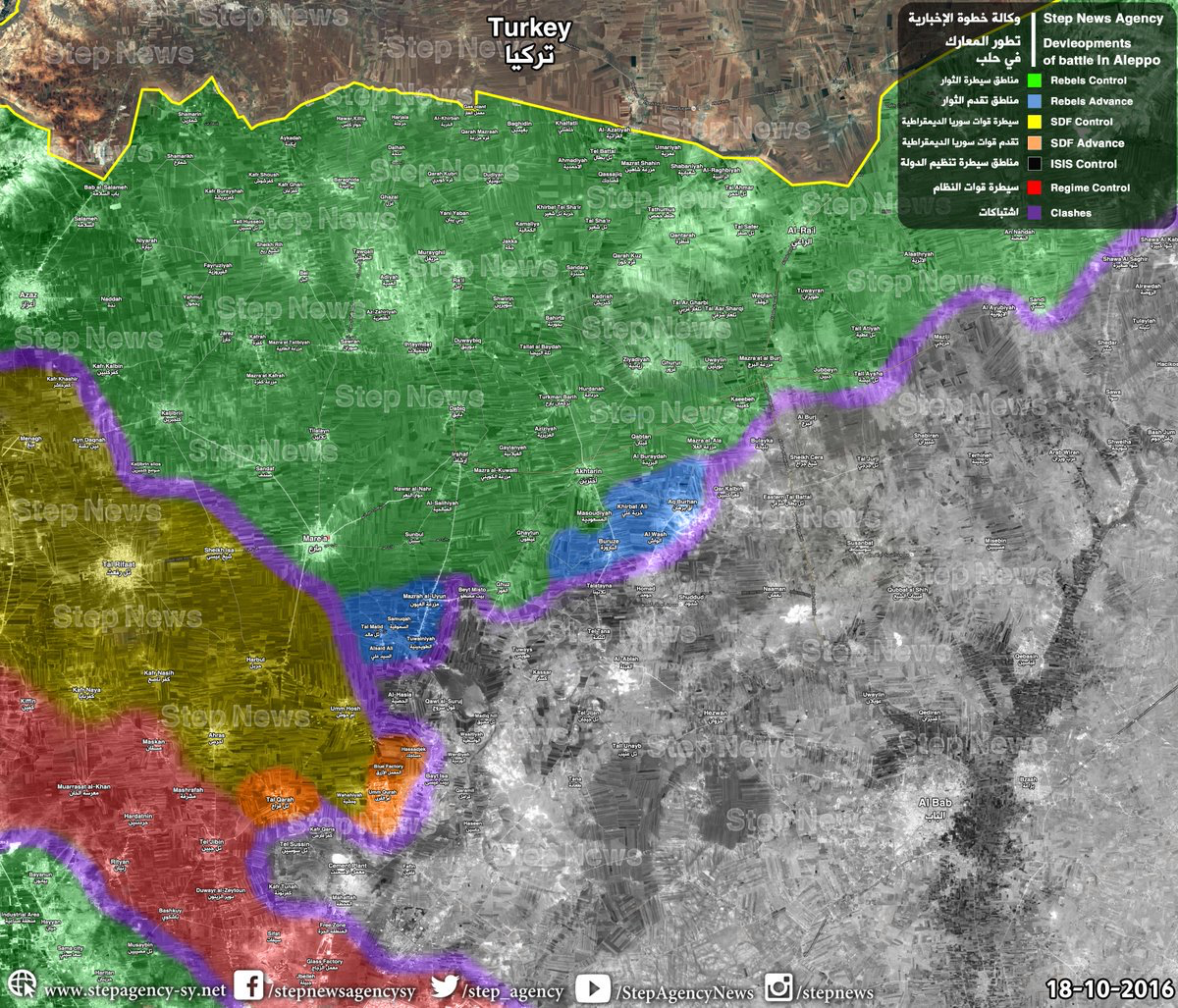 #Syria Expect clashes btw #FSA & #YPG along #Aleppo frontlines #FSA demand #YPG to withdraw from Tal Rifaat in 48h youtube.com/watch?v=VuS7lA…