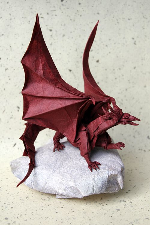 Ancient Dragon Origami Designs And How Tos Pinterest Paper