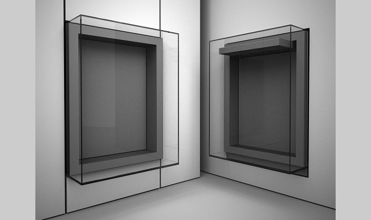 Glass Box Wall Hung Display Cases For Museums Goppion Museum Display Cases Display Case Glass Display Box