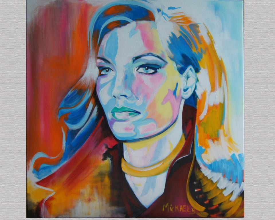Favori Portrait peinture toile acrylique couleur art : Peintures par  QG54