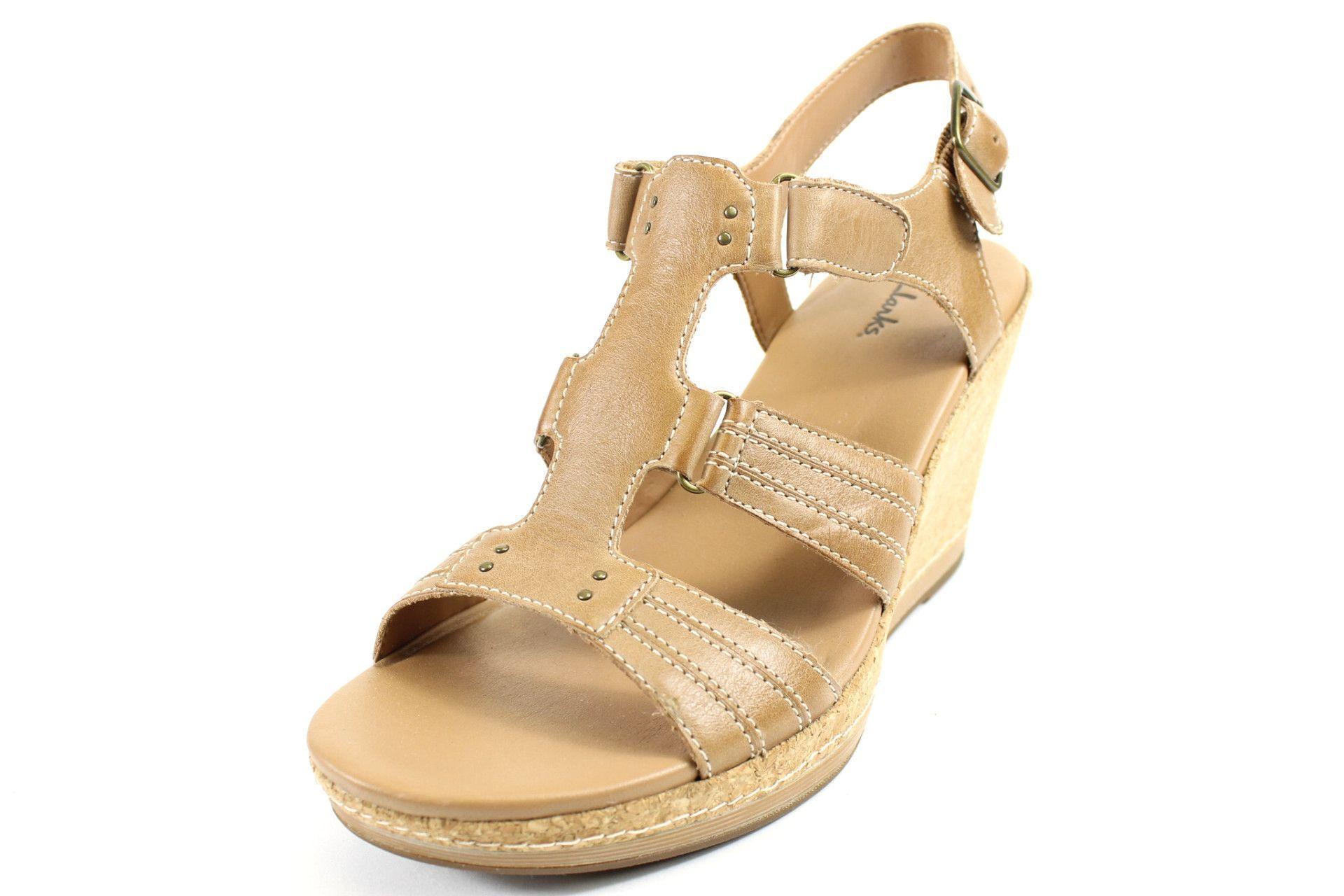 9b02d8fefc8 Clarks Caramel Pitch Wedge Sandals   Products   Wedge sandals ...
