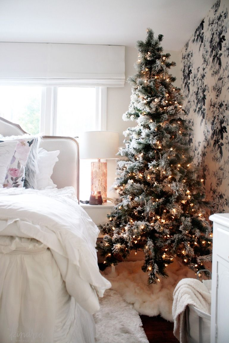 Give your bedroom a winter wonderland feel with