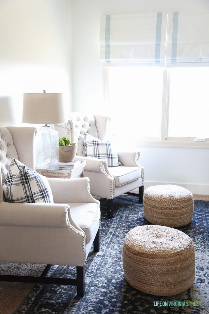 Living Room Poufs Spring Home Tour  Decked And Styled  Poufs Sisal And Roman