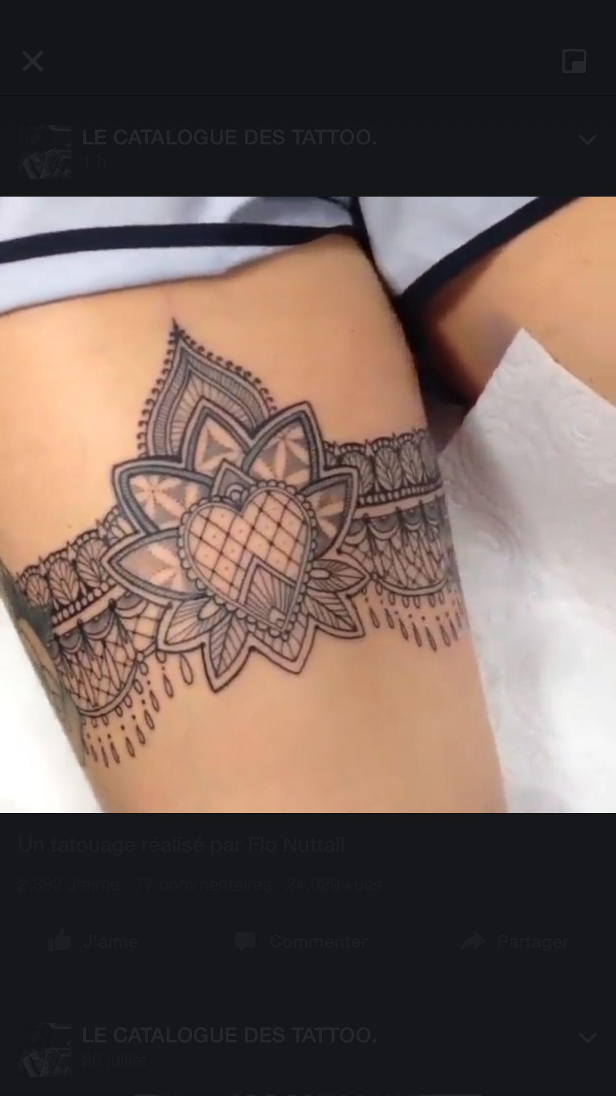 Mandala Coeur Jarretiere Dentelle Tattoo Idee Tattoo
