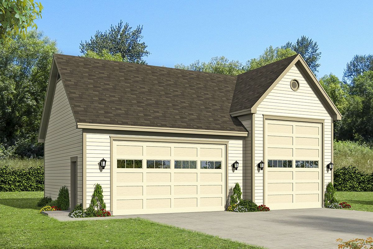 RV Garage Plan with Storage Above #garageplans