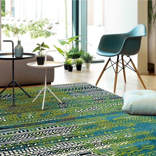 Folk Rugs 4449 53 In Green Blue And Ivory Online From The Rug Er Uk