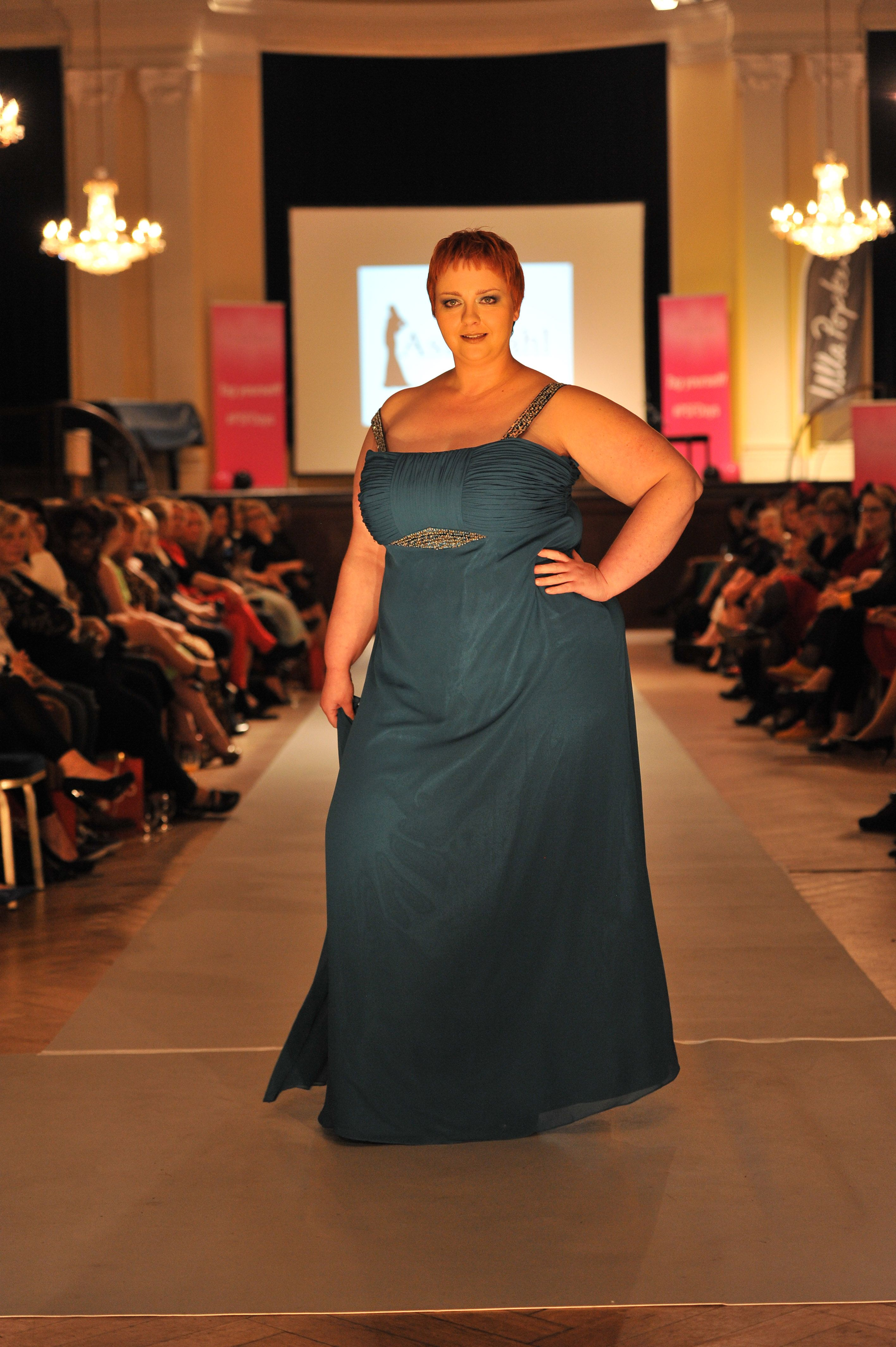Langes kleid plus size